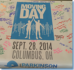 Moving Day Columbus 2014 Post Event Banner Logo Signed